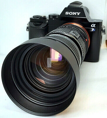 Vintage 35-105mm f3.5 Zoom Macro Cine Lens Sony E NEX Declicked for A7 A7r A7s
