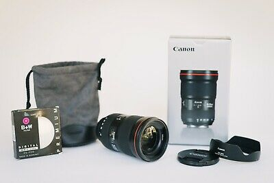Canon EF 16-35mm f/2.8 L III USM Ultrasonic Ultra-Wide Zoom Lens w/Filter + More