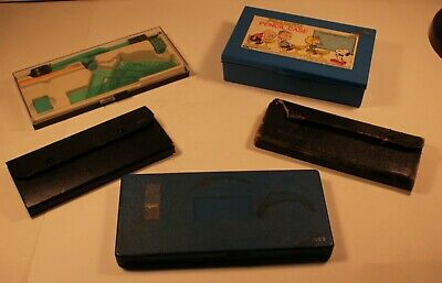4 Vintage drawing aids Pencil box, drafting sets , +