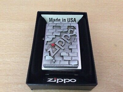 Zippo Lighter The Wall Stunning Item Of Real Quality New With Box
