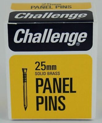 Frank Shaw Challenge Bright Panel Pins 25mm 30g Solid Brass Pins 0.25 Inch Pins