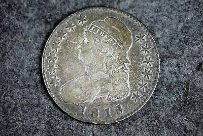 1818/7 Capped Bust Half DOLLAR SMALL 8 #D25145