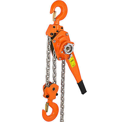 3/4 Ton Lever Block Chain Hoist Ratchet Type Come Along Puller 10FT Chain Lifter