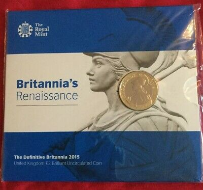 2015 Royal Mint Britannia Definitive BU £2 Two Pound Coin Pack