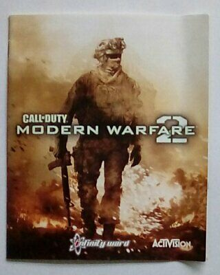 *INSTRUCTIONS ONLY* Call Of Duty Modern Warfare 2 Playstation Three 3 PS3 PS