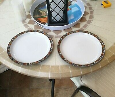 A pair of DENBY MARRAKESH 10 inch Dinner Plates - very slightly used Condition.