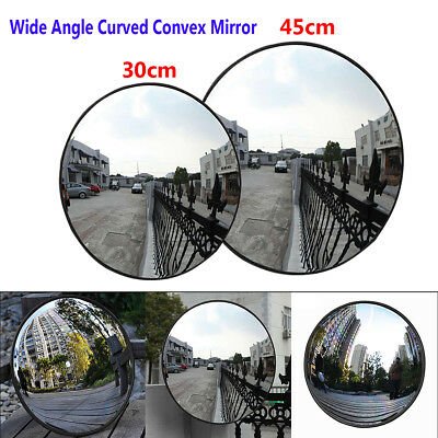 30/45cm Wide Angle Security Curved Convex Road Traffic Mirror Driveway Safety