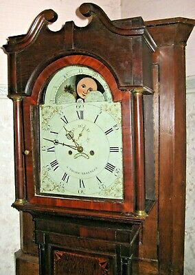 Moonroller Longcase Clock by Thorp of Abberley, Worcestershire, Working Order
