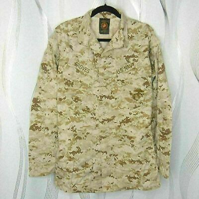 USMC Navy NWU Desert MARPAT Digital Camouflage MCCUU Blouse Shirt | Small X-Long