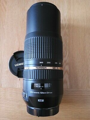 Tamron SP A005 70-300mm F/4.0-5.6 LD VC Di AF USD Lens with hood for Canon