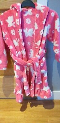 BHS Girls Bunny Rabbit Dressing Gown Age 5