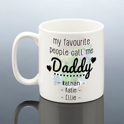 PERSONALISED DADDY MUG Birthday Dad Gift Birthday Cup Best Dads Present Names