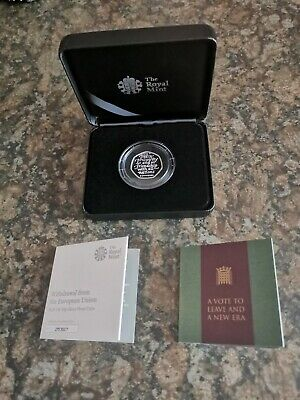 Brexit 50p Coin Royal Mint Limited Edition Solid Silver Proof IN Hand, SOLD OUT