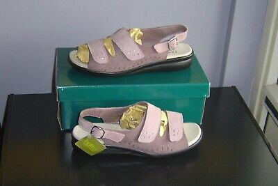 LADIES HOTTER Easy PINK / PLUM Nubuck Suede SANDALS SIZE 8 EXF wide fit NEW