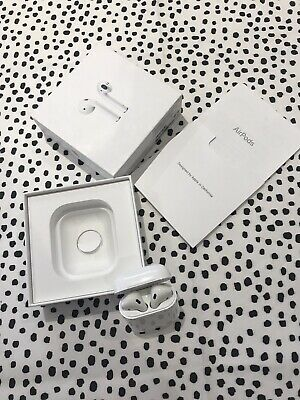 Apple AirPods 2nd Generation with Charging Case - White. Left AirPod Is Quiet.