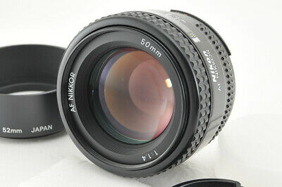 *Excellent* Nikon AF Nikkor 50mm f/1.4 Lens w/ Hood from Japan #4067