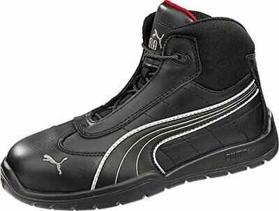PUMA SAFETY BROWN Mens Leather Atomic Mid EH ST Lace Up Work