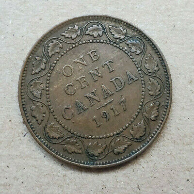 Canada 1917 Large Cent, King George V. Very nice, clear coin!