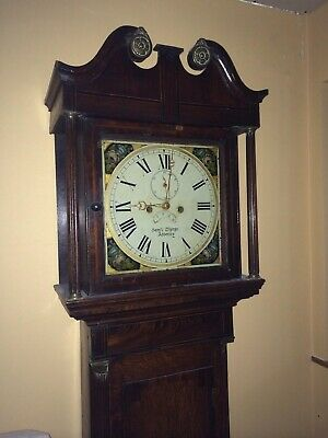 Grandfather Long Case 8 day mahogany Clock - Sam'l Thorpe, Abberley