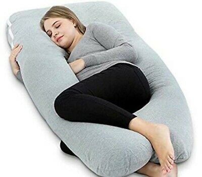 AngQi Full Body Pregnancy Pillow, U Shaped Maternity Pillow for Back Pain Relief