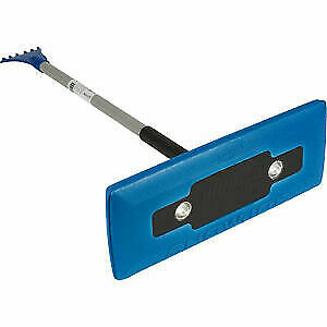 Snow Joe Telescoping Snow Broom with Ice Scraper 18 in. Wide with LEDs