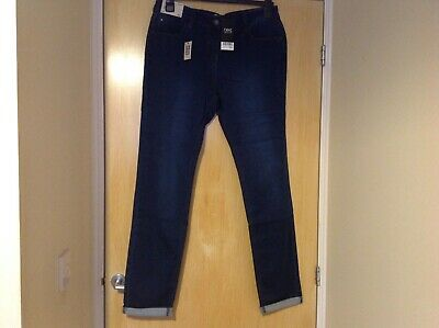 Ladies relaxed skinny blue jeans mid rise size 16 extra long leg from next