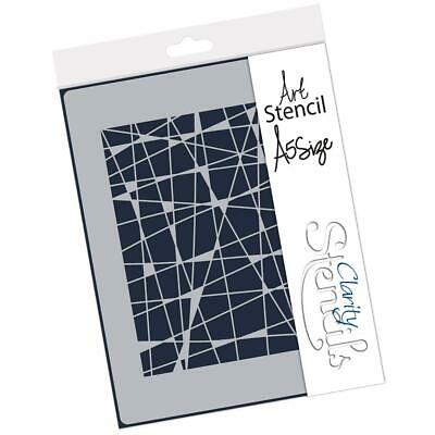 CLARITY STAMPS 148mm x 210mm Stencil DOODLEOLOGY CIRCLE LINES  STE-PA-00631-A5