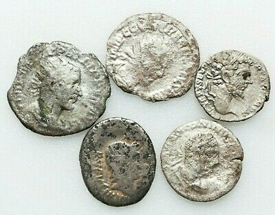Roman Imperial Ancient coins,LOT OF FOUR ROMAN SILVER COINS.