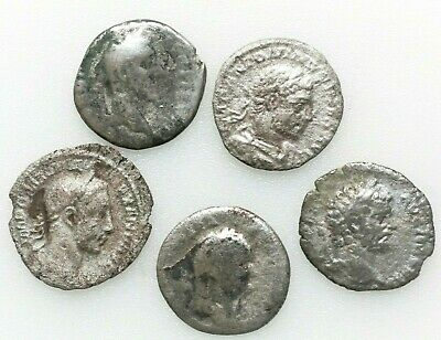 Roman Imperial Ancient coins,LOT OF FOUR ROMAN SILVER COINS 235-247 AD