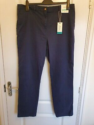 Joules Hesford Navy Chinos Size 18 Soft Touch Brand New With Tags RRP £49.95