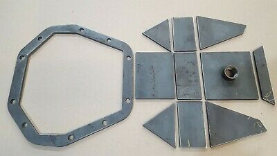 "DIY Heavy Duty Dana 60 Differential Cover Kit Weld it Yourself 1/4"" Steel"