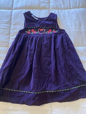 Girls Size 6X Samara Jumper Style Corduroy Sleeveless Spring Easter Spring Dress