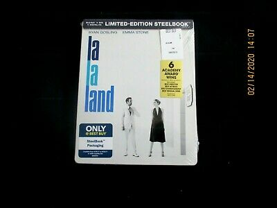 LA LA LAND  Blu-ray + DVD + Digital  Steelbook NEW