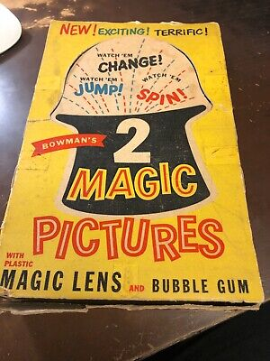 1955 Bowman Magic Pictures Empty Wax Pack Display Box  *Very Rare*