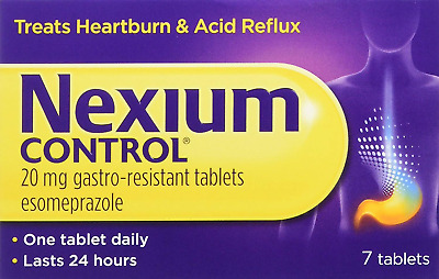 Nexium Control 7 Count Heartburn and Acid Reflux Relief Tablets, 20mg Tablets