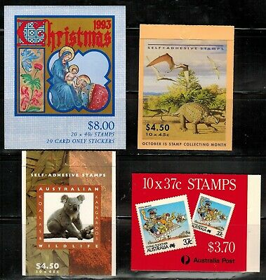 Australia 4 Complete Booklets MNH