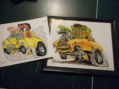 New Hot Rod Poster 11x17 Ed Roth w// Revell class of 1964 weirdo shirts rat fink