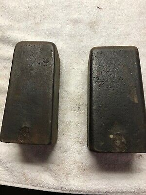 Cast Iron Weights For American Clocks.  8 Lb and 9 lb