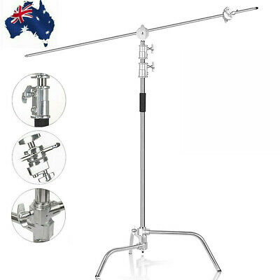 Professional Heavy Duty Studio C-Stand with Gobo Arm Grip Heads Century Stand