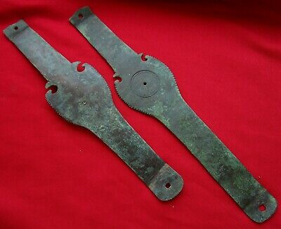 Ancient Bronze Celtic Hallstatt Culture SWORD SCABARD DECORATION 24 CM .RARE .2