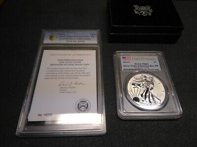 2019 S $1 Enhanced Reverse Proof Silver Eagle Pcgs Pr69 First Strike Gold Shield