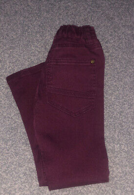 Boys Next Jeans  Age 7 Burgundy soft denim Perfect Condition