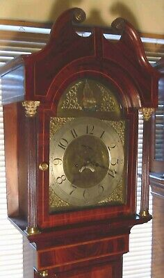 "Antique Mahogany "" Sunderland  "" R/ Ship  Dial Longcase / Grandfather Clock"