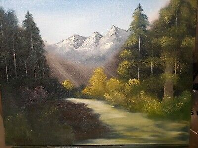 "Landscape oil painting Titled ""A Walk In the forest"""