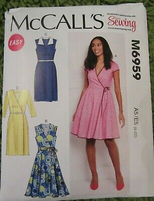 McC... McCalls Ladies Easy Sewing Pattern 7538 Crossover Band Top /& Dresses
