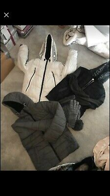 3 Boys Padded Winter Coat With Hat And Gloves Next Asda River Island
