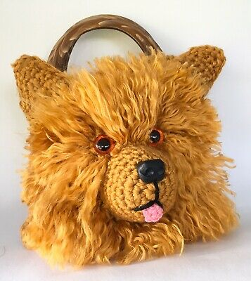 Yorkshire Terrier Handbag Crochet Kit. With Pattern, Yarn, Eyes, Nose, Handles