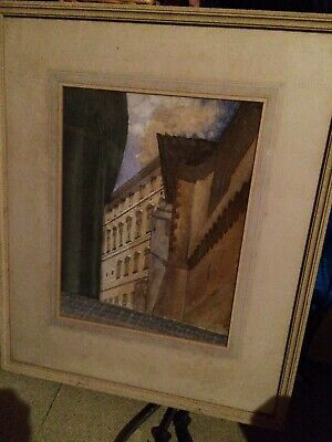 antique Painting Unusual History. Loch Ness Monster. Vatican Interest.Attic Find