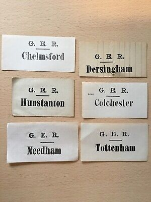 6. X. G, E, R,   Luggage Labels,  (. Nice. Mix,  )