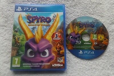 SPYRO REIGNITED TRILOGY PS4 V.G.C. FAST POST ( action/adventure/platform game )